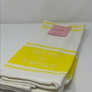 Kate Spade diner stripe kitchen towel 2 pk set